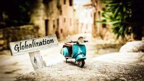 Σημάδι οδών στην παγκοσμιοποίηση στοκ φωτογραφία με δικαίωμα ελεύθερης χρήσης