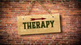 Σημάδι οδών στη θεραπεία στοκ φωτογραφίες