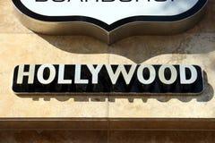σημάδι οικοδόμησης hollywood Στοκ φωτογραφία με δικαίωμα ελεύθερης χρήσης