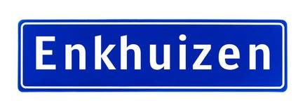 Σημάδι ορίου πόλεων Enkhuizen, οι Κάτω Χώρες στοκ εικόνα με δικαίωμα ελεύθερης χρήσης