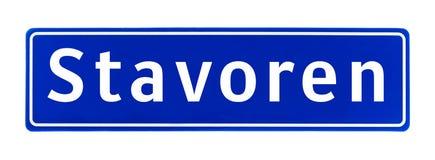 Σημάδι ορίου πόλεων Stavoren, οι Κάτω Χώρες στοκ φωτογραφίες