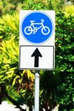 σημάδι πάρκων ποδηλάτων Στοκ Εικόνα