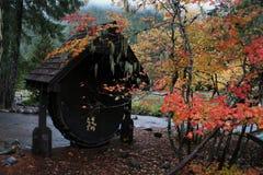 Σημάδι πάρκων φθινοπώρου Στοκ φωτογραφία με δικαίωμα ελεύθερης χρήσης