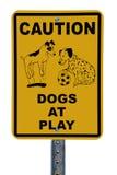 σημάδι παιχνιδιού σκυλιών Στοκ Εικόνες