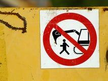 Σημάδι περιορισμού Στοκ φωτογραφία με δικαίωμα ελεύθερης χρήσης