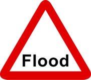σημάδι πλημμυρών απεικόνιση αποθεμάτων
