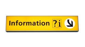 σημάδι πληροφοριών Στοκ φωτογραφίες με δικαίωμα ελεύθερης χρήσης