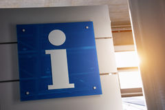 Σημάδι πληροφοριών Στοκ φωτογραφία με δικαίωμα ελεύθερης χρήσης