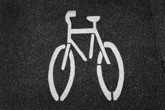 σημάδι ποδηλάτων Στοκ εικόνες με δικαίωμα ελεύθερης χρήσης