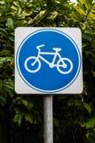Σημάδι ποδηλάτων Στοκ Φωτογραφία