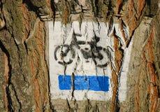 σημάδι ποδηλάτων Στοκ εικόνα με δικαίωμα ελεύθερης χρήσης