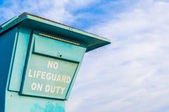 Σημάδι που δεν λέει κανένα Lifeguard στο καθήκον με το διάστημα αντιγράφων Στοκ εικόνες με δικαίωμα ελεύθερης χρήσης