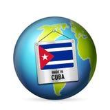 Σημάδι που κατασκευάζεται στην Κούβα διανυσματική απεικόνιση
