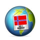 Σημάδι που κατασκευάζεται στη Νορβηγία ελεύθερη απεικόνιση δικαιώματος