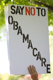 Σημάδι προσοχής Obama. Στοκ εικόνα με δικαίωμα ελεύθερης χρήσης