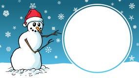 Σημάδι προτύπων διαφήμισης σχεδίου χιονανθρώπων κινούμενων σχεδίων πώλησης Χριστουγέννων στοκ φωτογραφίες