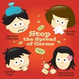 σημάδι πρόληψης αφισών γρίπη&sig απεικόνιση αποθεμάτων