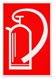 σημάδι πυρκαγιάς πυροσβ&eps Στοκ εικόνα με δικαίωμα ελεύθερης χρήσης