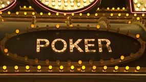 σημάδι πόκερ Στοκ Φωτογραφίες