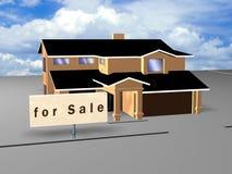 σημάδι πώλησης σπιτιών απεικόνιση αποθεμάτων
