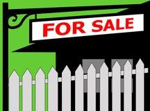 σημάδι πώλησης φραγών απεικόνιση αποθεμάτων