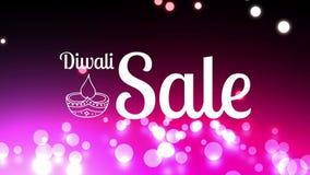 Σημάδι πώλησης Diwali ενάντια στα πυροτεχνήματα απεικόνιση αποθεμάτων
