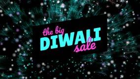 Σημάδι πώλησης Diwali ενάντια στα πυροτεχνήματα ελεύθερη απεικόνιση δικαιώματος