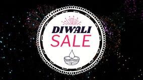 Σημάδι πώλησης Diwali ενάντια στα πυροτεχνήματα διανυσματική απεικόνιση