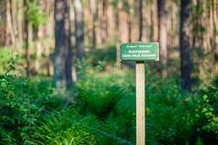 Σημάδι σε Lutterzand που δεν δείχνει καμία ελεύθερη πρόσβαση στη στηργμένος περιοχή Στοκ Εικόνες