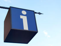 σημάδι σημείου πληροφορ&iot Στοκ Εικόνες