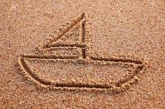 σημάδι σκαφών Στοκ εικόνα με δικαίωμα ελεύθερης χρήσης