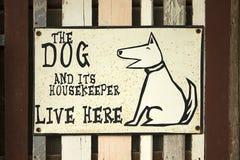 σημάδι σκυλιών Στοκ Φωτογραφίες