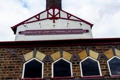 Σημάδι σταθμών για το llanfairpwllgwyngyllgogerychwyrndrobwllllantysiliogogogoch στοκ φωτογραφία με δικαίωμα ελεύθερης χρήσης