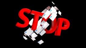 Σημάδι ΣΤΑΣΕΩΝ που συμβολίζει μια απαγόρευση σε έναν μεγάλο αριθμό επιστολών ή spam 50 ελεύθερη απεικόνιση δικαιώματος