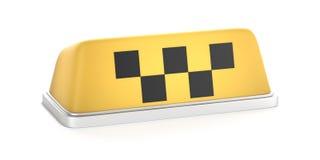 Σημάδι στεγών αυτοκινήτων αμαξιών ταξί απεικόνιση αποθεμάτων