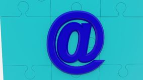 @ σημάδι στην μπλε επιφάνεια γρίφων ελεύθερη απεικόνιση δικαιώματος