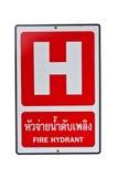 σημάδι στομίων υδροληψία&sigm Στοκ εικόνα με δικαίωμα ελεύθερης χρήσης