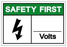 Σημάδι συμβόλων βολτ ασφάλειας το πρώτο, διανυσματική απεικόνιση, απο απεικόνιση αποθεμάτων
