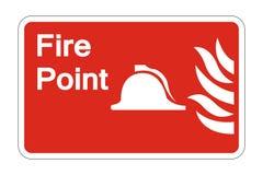 σημάδι συμβόλων σημείου πυρκαγιάς συμβόλων στο άσπρο υπόβαθρο, διανυσματική απεικόνιση απεικόνιση αποθεμάτων