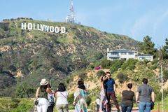 σημάδι της Angeles hollywood Los Στοκ φωτογραφία με δικαίωμα ελεύθερης χρήσης