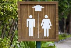 Σημάδι τουαλετών στην παραλία Αρσενικό και θηλυκό WC Στοκ Εικόνα