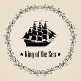 Σημάδι του βασιλιά της θάλασσας Στοκ Εικόνες