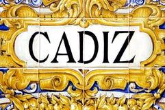 σημάδι του Καντίζ στοκ φωτογραφία με δικαίωμα ελεύθερης χρήσης