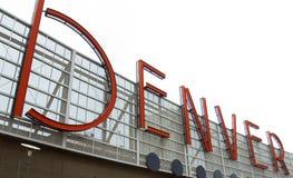 Σημάδι του Ντένβερ Στοκ φωτογραφία με δικαίωμα ελεύθερης χρήσης