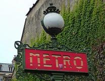 σημάδι του Παρισιού μετρό Στοκ φωτογραφία με δικαίωμα ελεύθερης χρήσης