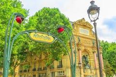 σημάδι του Παρισιού υπόγ&epsilon Στοκ εικόνα με δικαίωμα ελεύθερης χρήσης