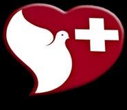 σημάδι υγείας κέντρων περίθαλψης Στοκ εικόνες με δικαίωμα ελεύθερης χρήσης