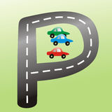 σημάδι υπαίθριων σταθμών αυτοκινήτων Στοκ Εικόνες