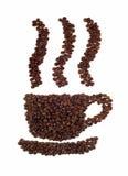 σημάδι φλυτζανιών καφέ Στοκ Εικόνες