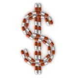 σημάδι χαπιών δολαρίων Στοκ Φωτογραφία